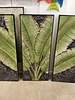 WALL ART GREEN LEAVES TRYPTIC WALL DECOR