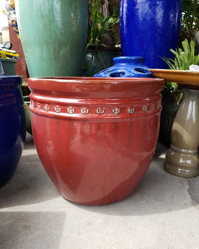 HIGH FIRED CERAMIC LB COIN PLANTER XL 22