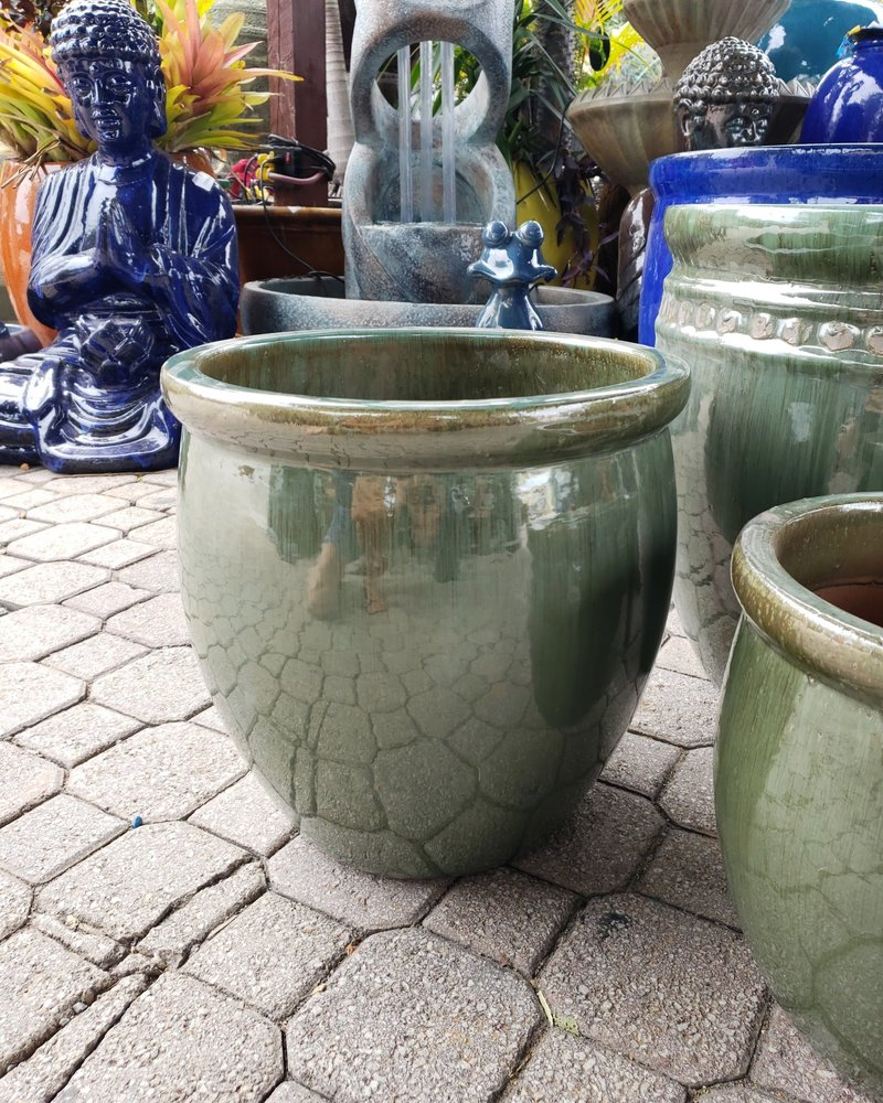 HIGH FIRED CERAMIC LB DECOR PLANTER MD 15