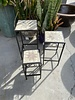 GARDEN ART & ACCESSORIES SQUARE PLANT STAND LG
