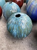 HIGH FIRED CERAMIC SPHERE OIL LAMPS SM