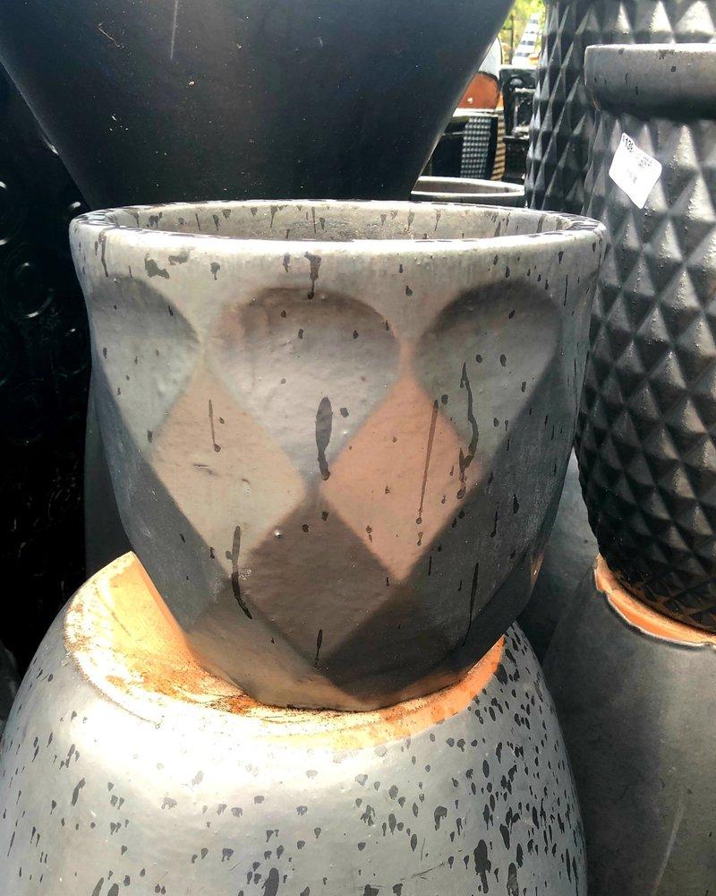 HIGH FIRED CERAMIC LB DIAMOND EGG SM 10