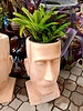 HIGH FIRED CERAMIC HEAD PLANTER