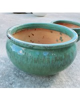 HIGH FIRED CERAMIC LOW BELLY PLANTER XL