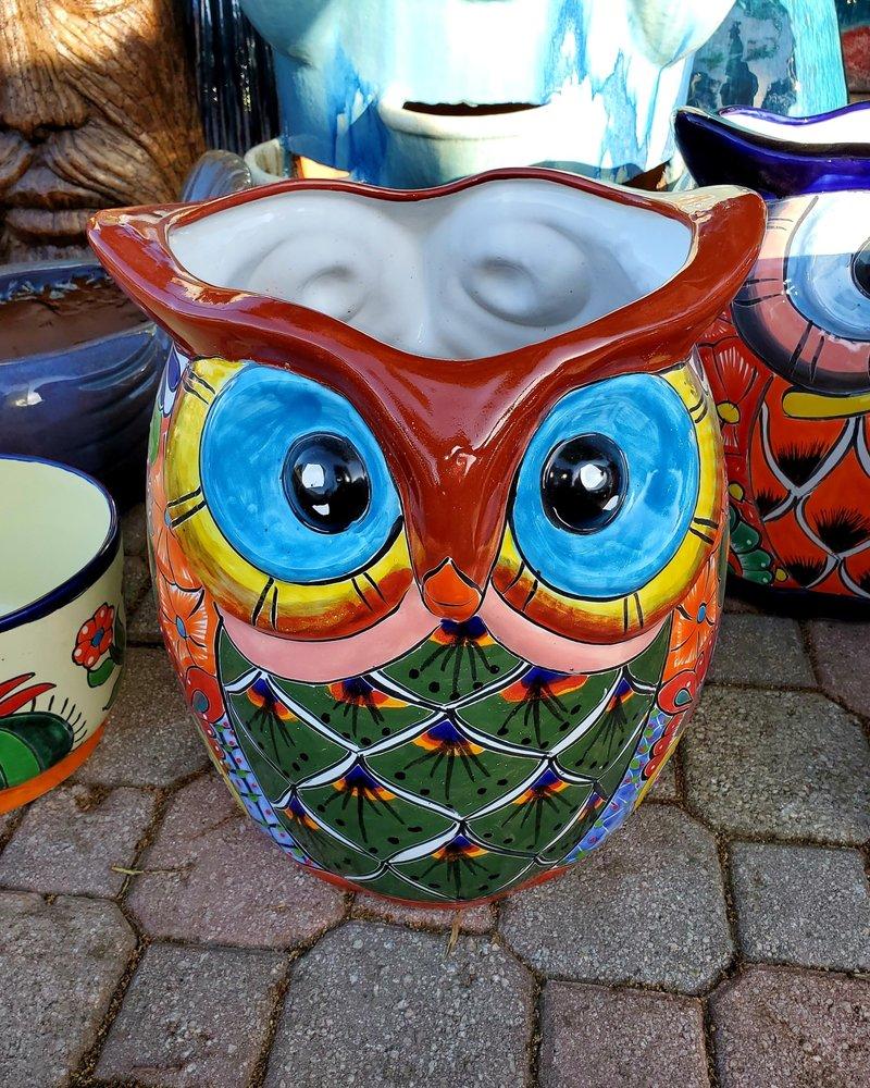 TALAVERA DOUBLE OWL PLANTER