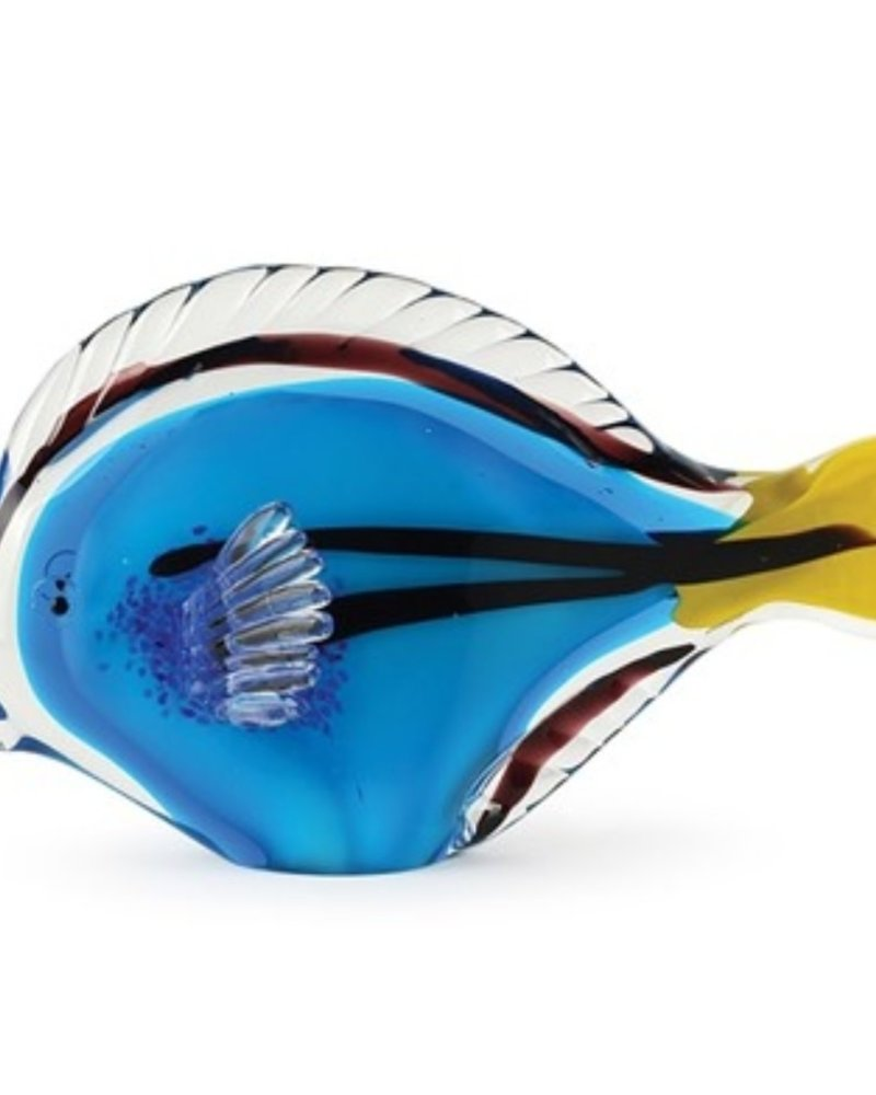 SCULPTURE GLASS BLUE TANG FISH