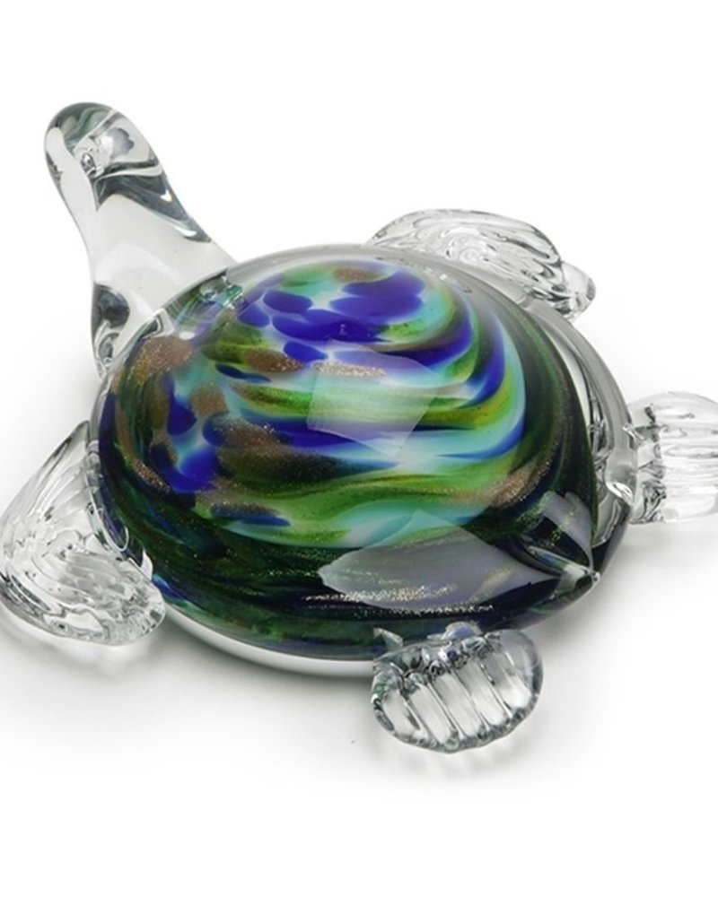 GARDEN ART & ACCESSORIES GLASS SEA TURTLE MD