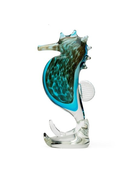 SCULPTURE SMALL GLASS SEAHORSE