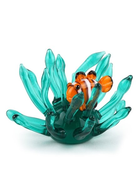 SCULPTURE GLASS MINI CLOWN FISH