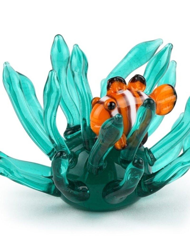 SCULPTURE GLASS MINI CLOWN FISH