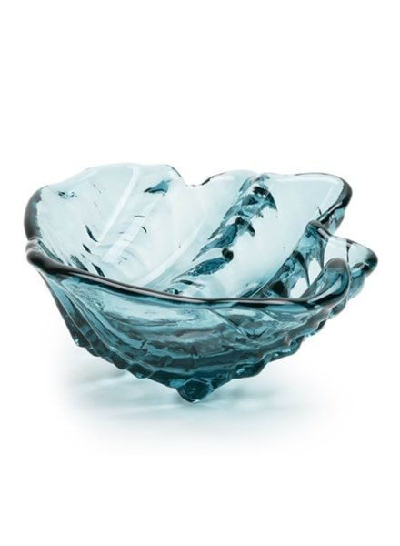 GLASS GLASS CLAMSHELL BOWL