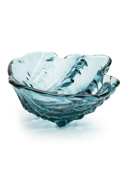 SCULPTURE GLASS CLAMSHELL BOWL