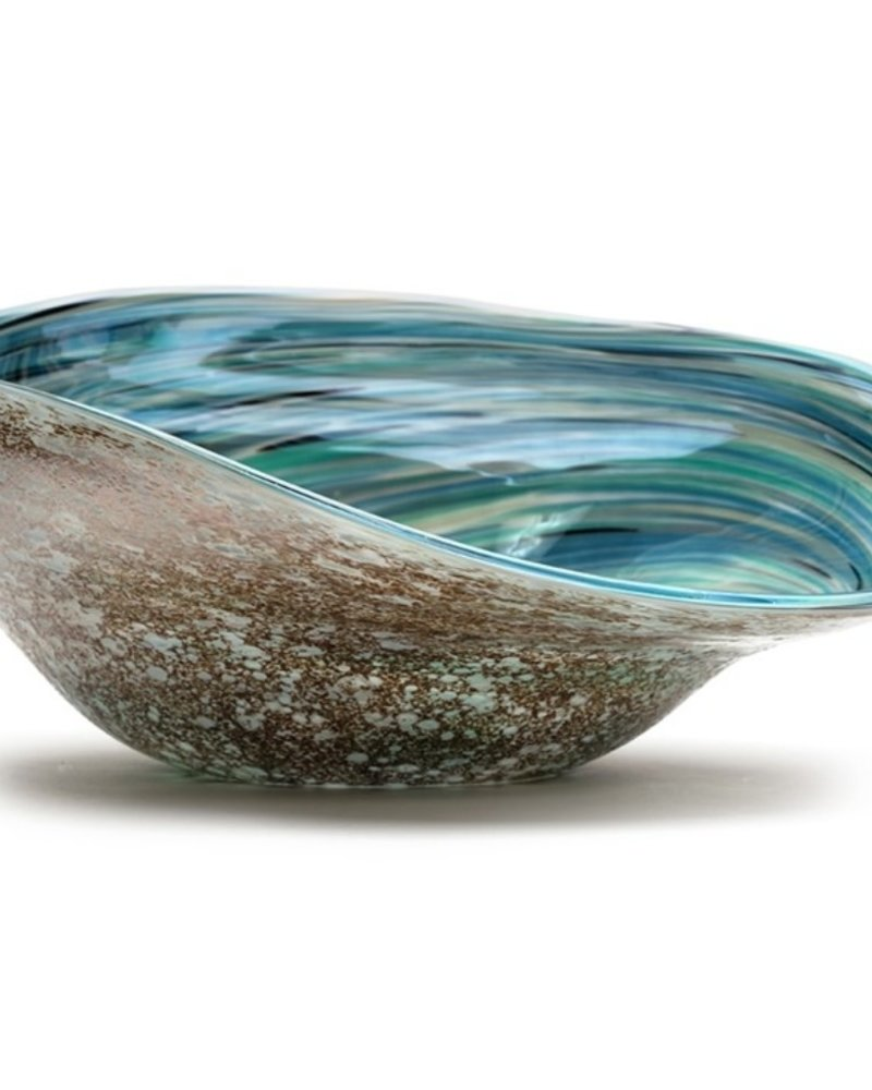 SCULPTURE GLASS ABALONE SHELL