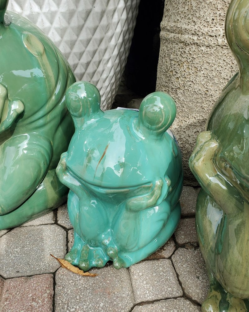 HIGH FIRED CERAMIC THINKING FROG MD