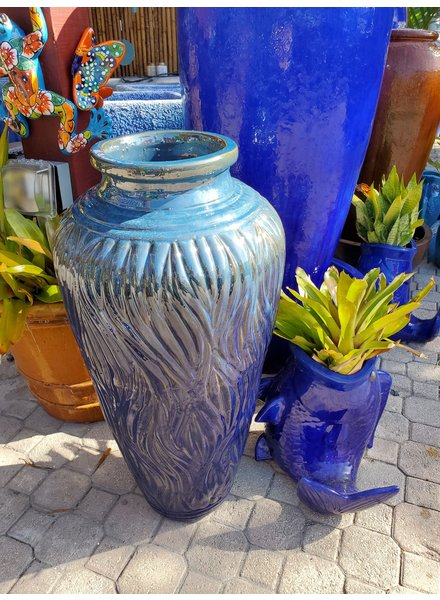 HIGH FIRED CERAMIC PREMIUM TALL PEONY URN