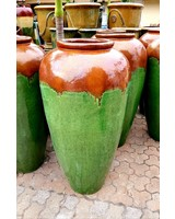 HIGH FIRED CERAMIC CLASSIC JAR WITH HANDLES 46