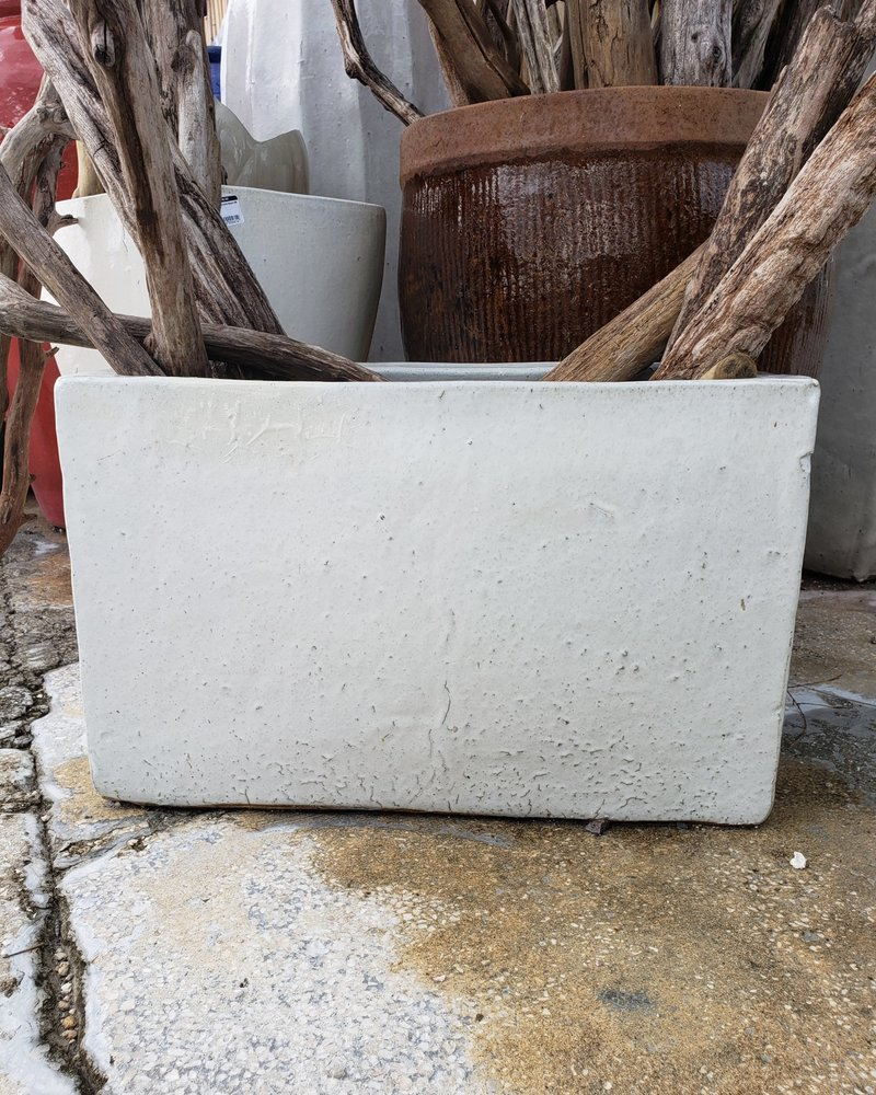 HIGH FIRED CERAMIC TALL RECTANGLE LG