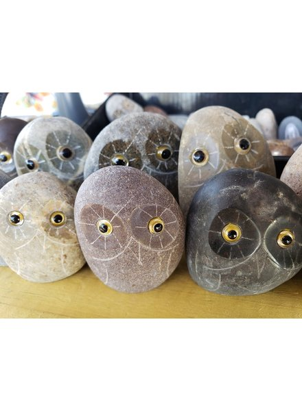 """2"""" CARVED STONE OWL"""