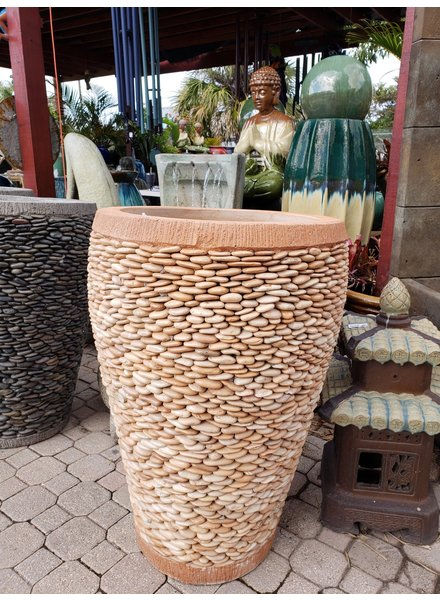 NATURAL STONE PEBBLE PLANTER LG