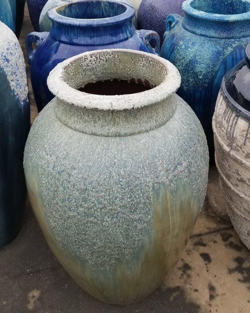 HIGH FIRED CERAMIC PALMYRA JAR