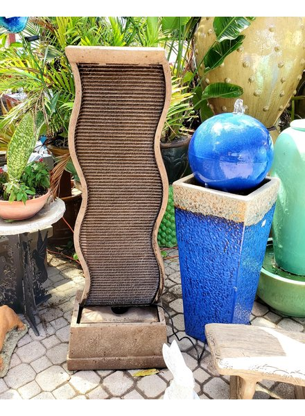 """FOUNTAINS 61"""" CURVED WATER WALL FOUNTAIN"""