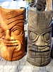 "SCULPTURE 36"" LAUGHING TONGUE TIKI FACE"