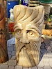 "CAST STONE 36"" BEARED BARLEY FACE"