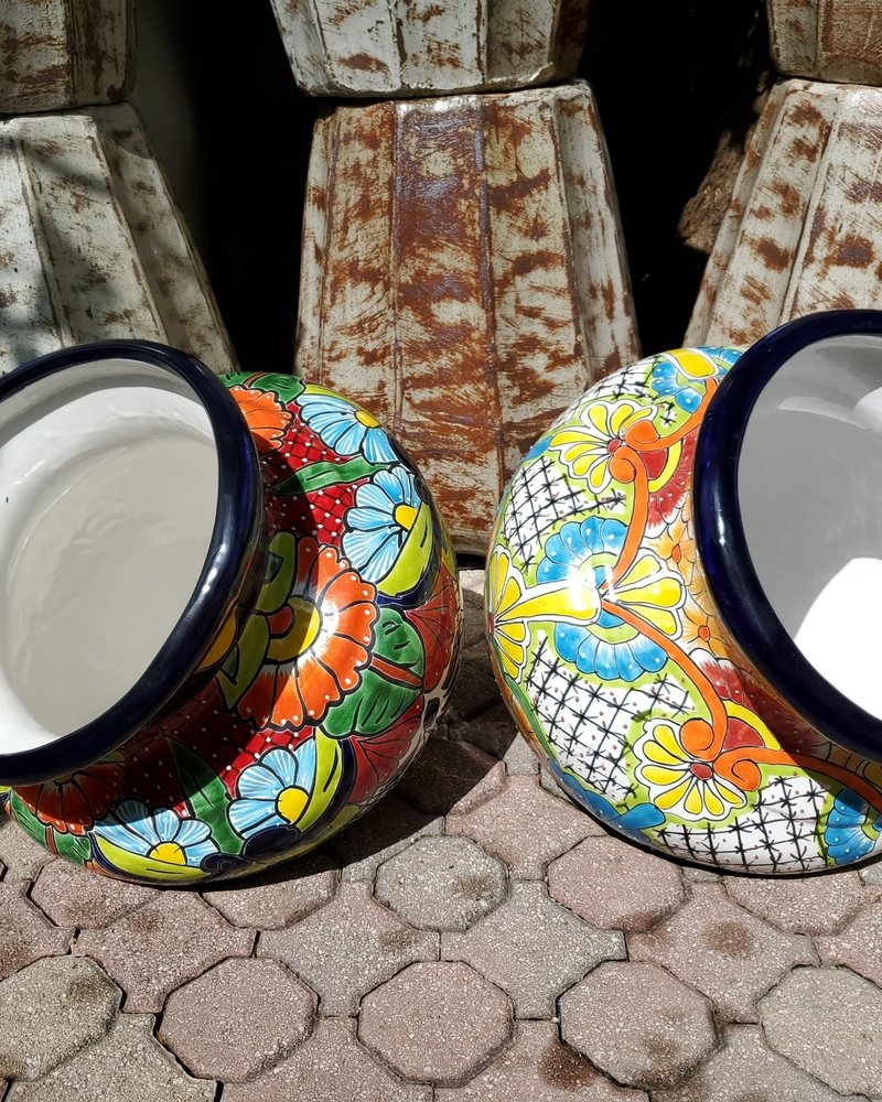 TALAVERA EXTRA BIG WELCOME PLANTER