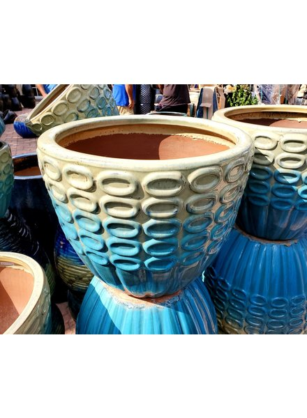 HIGH FIRED CERAMIC PREMIUM OO PLANTER LG