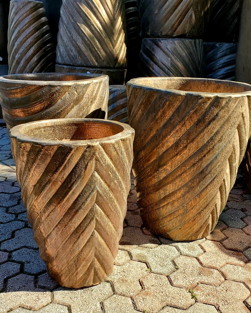 HIGH FIRED CERAMIC CLASSIC TALIN PLANTER LG
