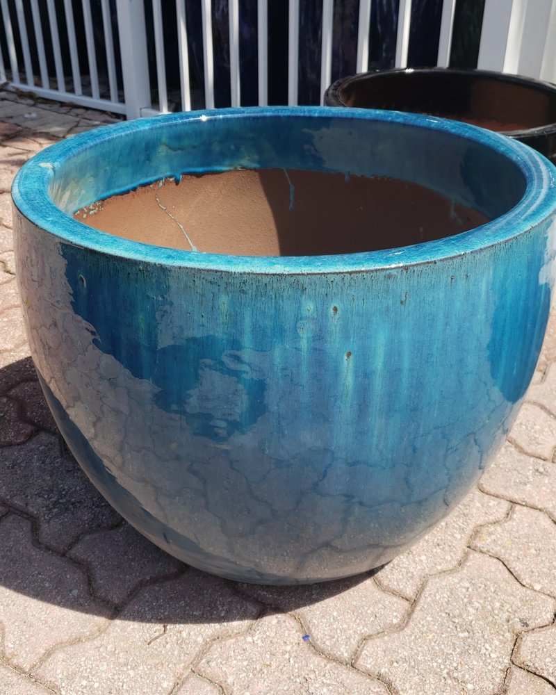 HIGH FIRED CERAMIC LB EGG SHAPED PLANTER XL 20