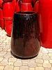 HIGH FIRED CERAMIC STATELY TEARDROP JAR