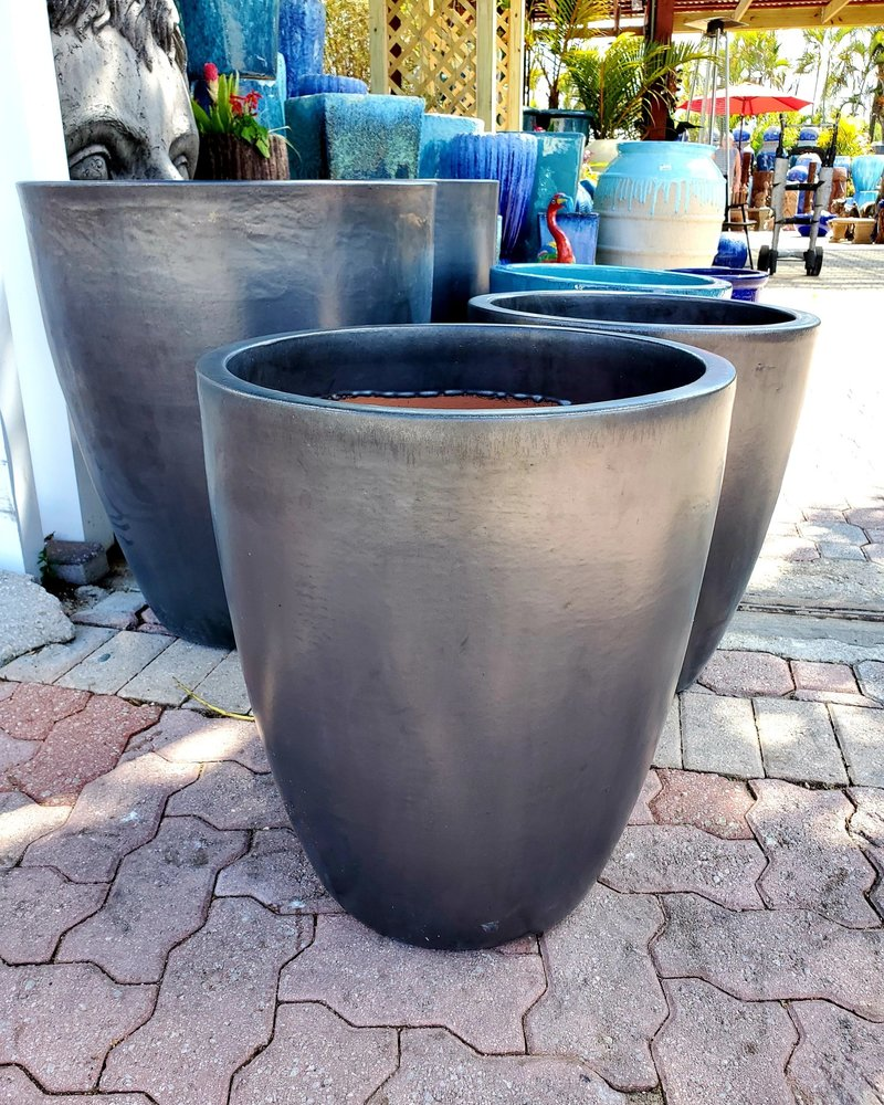 HIGH FIRED CERAMIC LB XLG CONE PLANTER LG 21