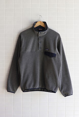Patagonia - Men's Lightweight Synchilla Snap-T Fleece Pullover - Nickel w/Navy Blue