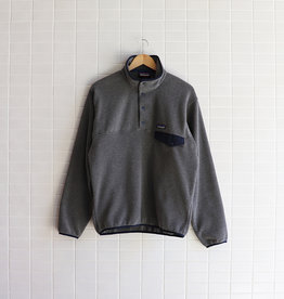 Patagonia - Men's Lightweight Synchilla Snap-T Fleece Pullover - Nickel w/Navy Blue
