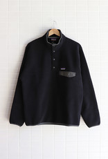 Patagonia - Men's Lightweight Synchilla Snap-T Fleece Pullover - Black w/Forge Grey