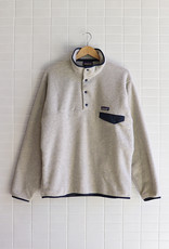 Patagonia - Men's Lightweight Synchilla Snap-T Fleece Pullover - Oatmeal Heather w/Navy Blue