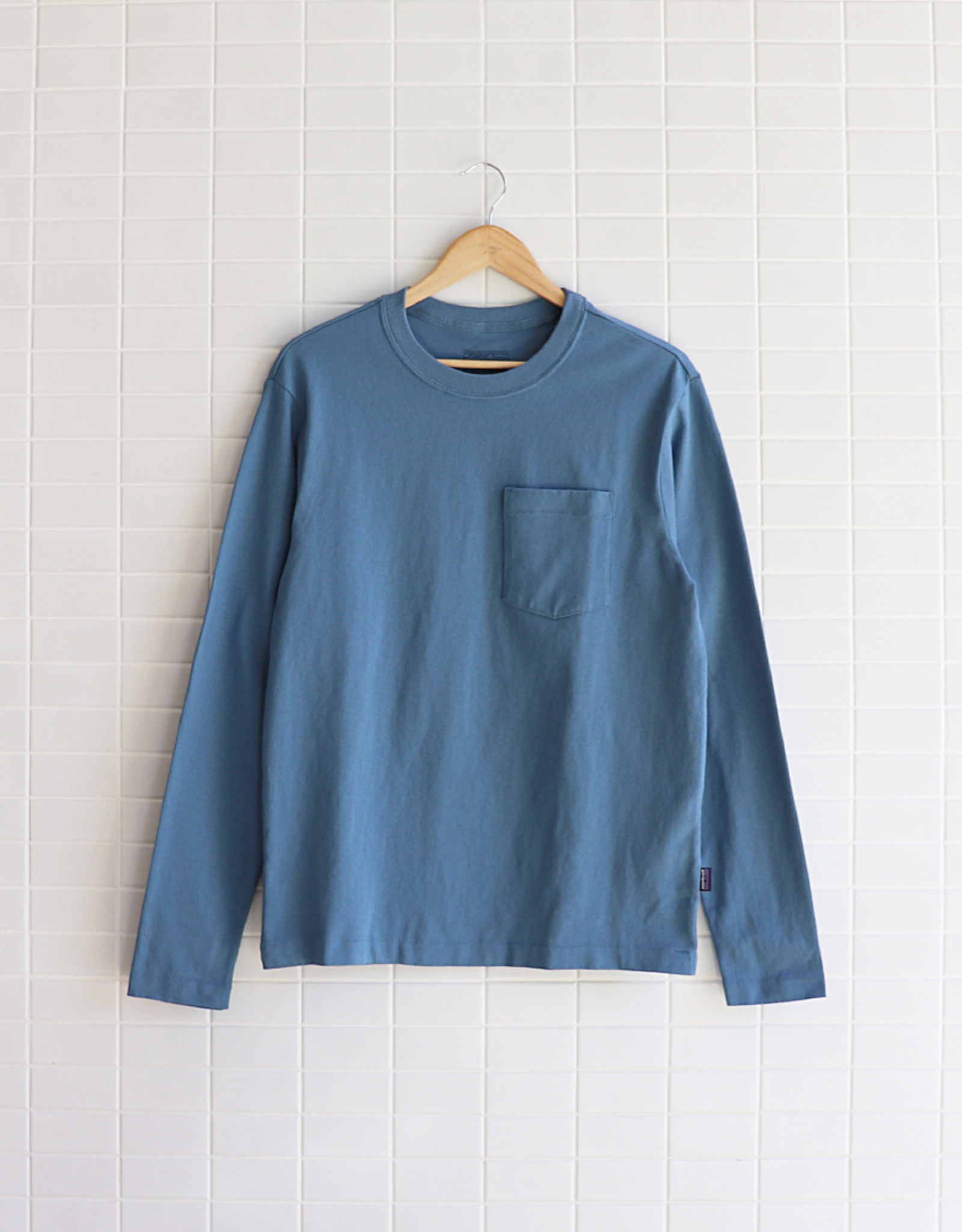 Patagonia - L/S Organic Cotton Pocket Tee - Pigeon Blue