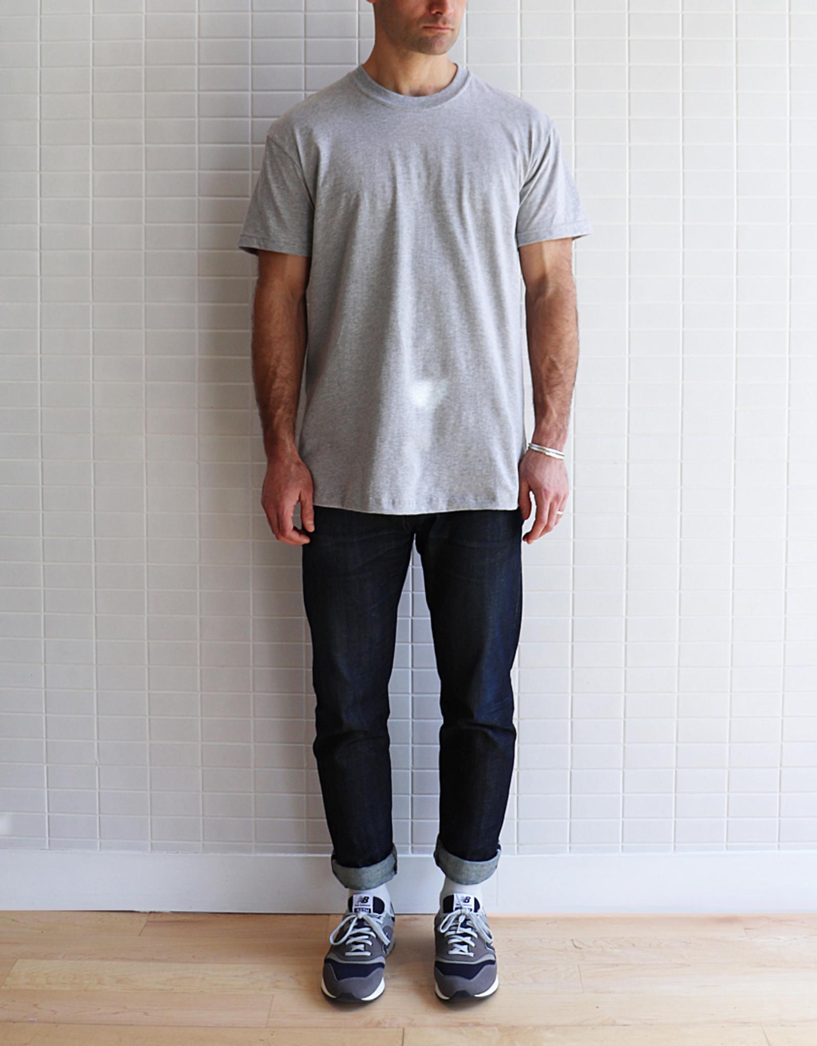 Naked & Famous - Circular Knit T-Shirt - Gris Chiné
