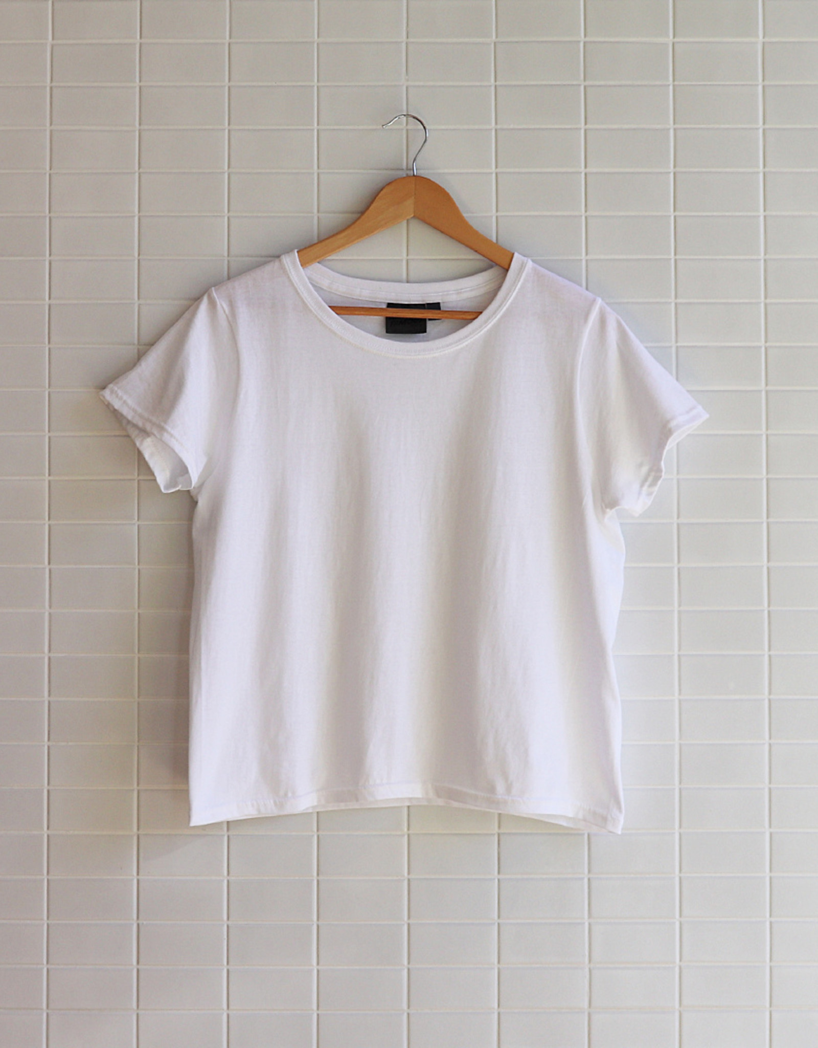 Naked & Famous - W's Circular Knit T-Shirt - Blanc