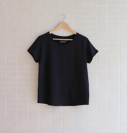 Naked & Famous - W's Circular Knit T-Shirt - Noir