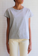 Naked & Famous - W's Circular Knit T-Shirt - Gris Chiné