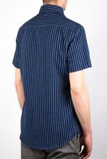 Bon Vivant - Gino Manches Courtes - Dyed Dobby Stripe - Navy/Light Blue