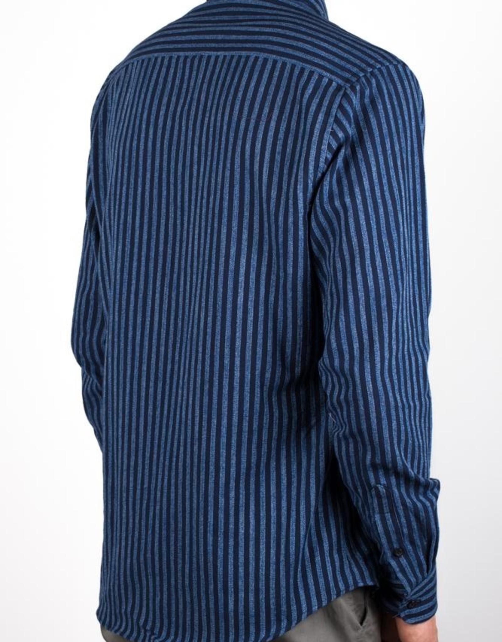 Bon Vivant - Gino Dobby Stripe - Navy/Light Blue