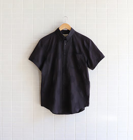 Naked & Famous - Short Sleeve Easy Shirt Circle Dobby - Black