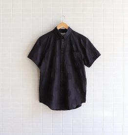 Naked & Famous - Short Sleeve Easy Shirt Circle Dobby - Black