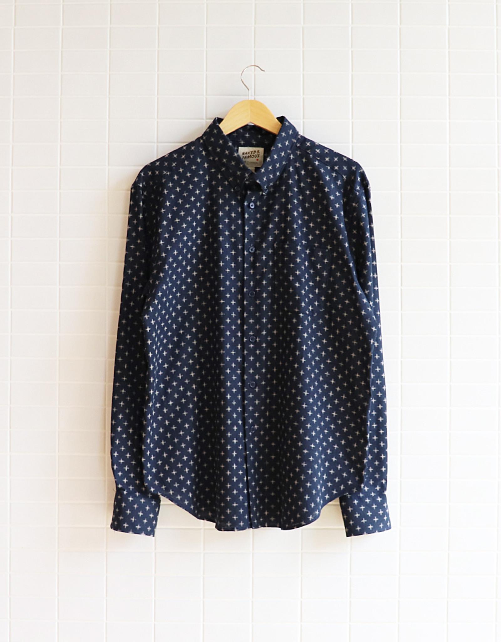 Naked & Famous - Easy Shirt - Kimono Plus - Navy - XL