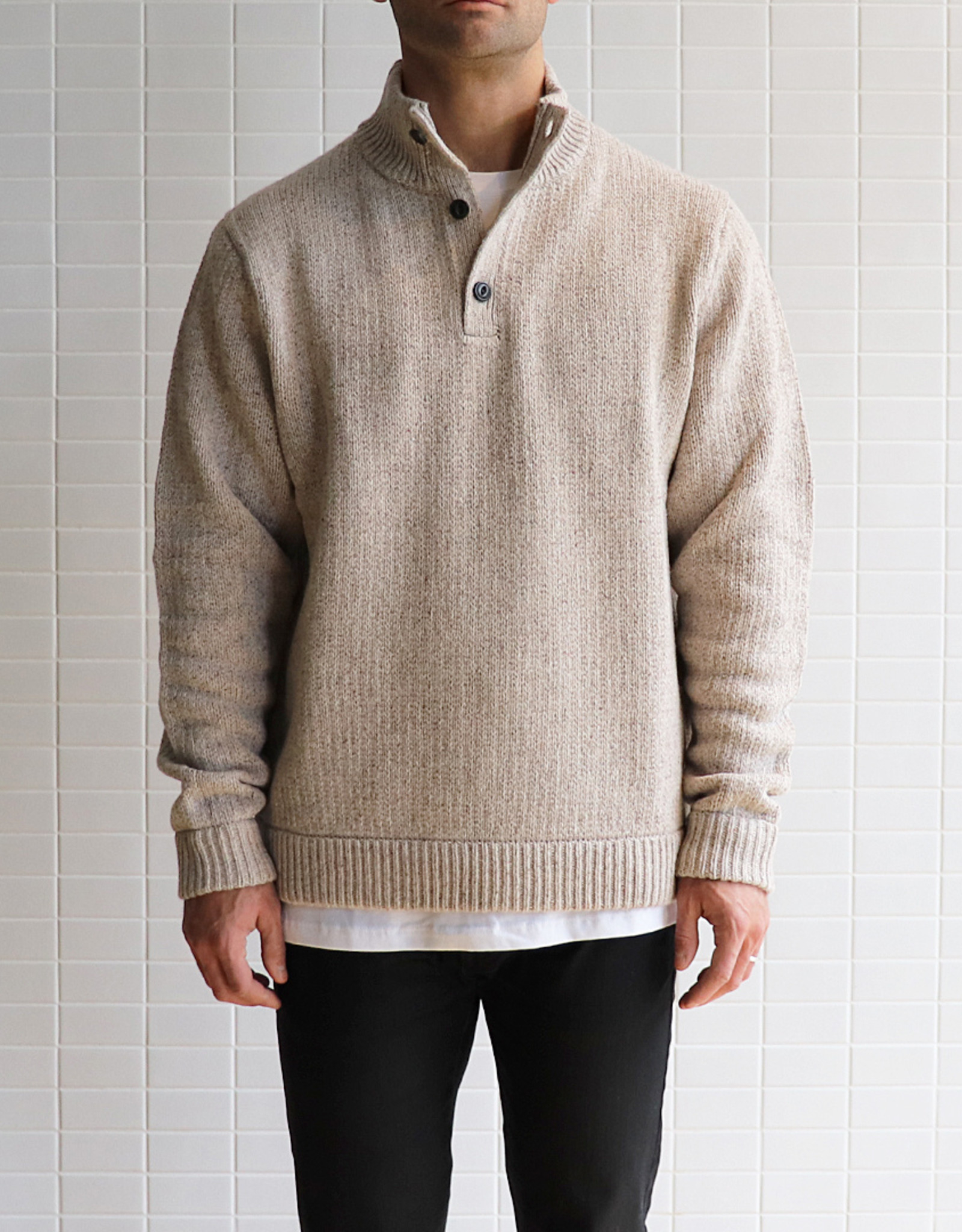 Patagonia - M's Off Country P/O Sweater - Beige - Small