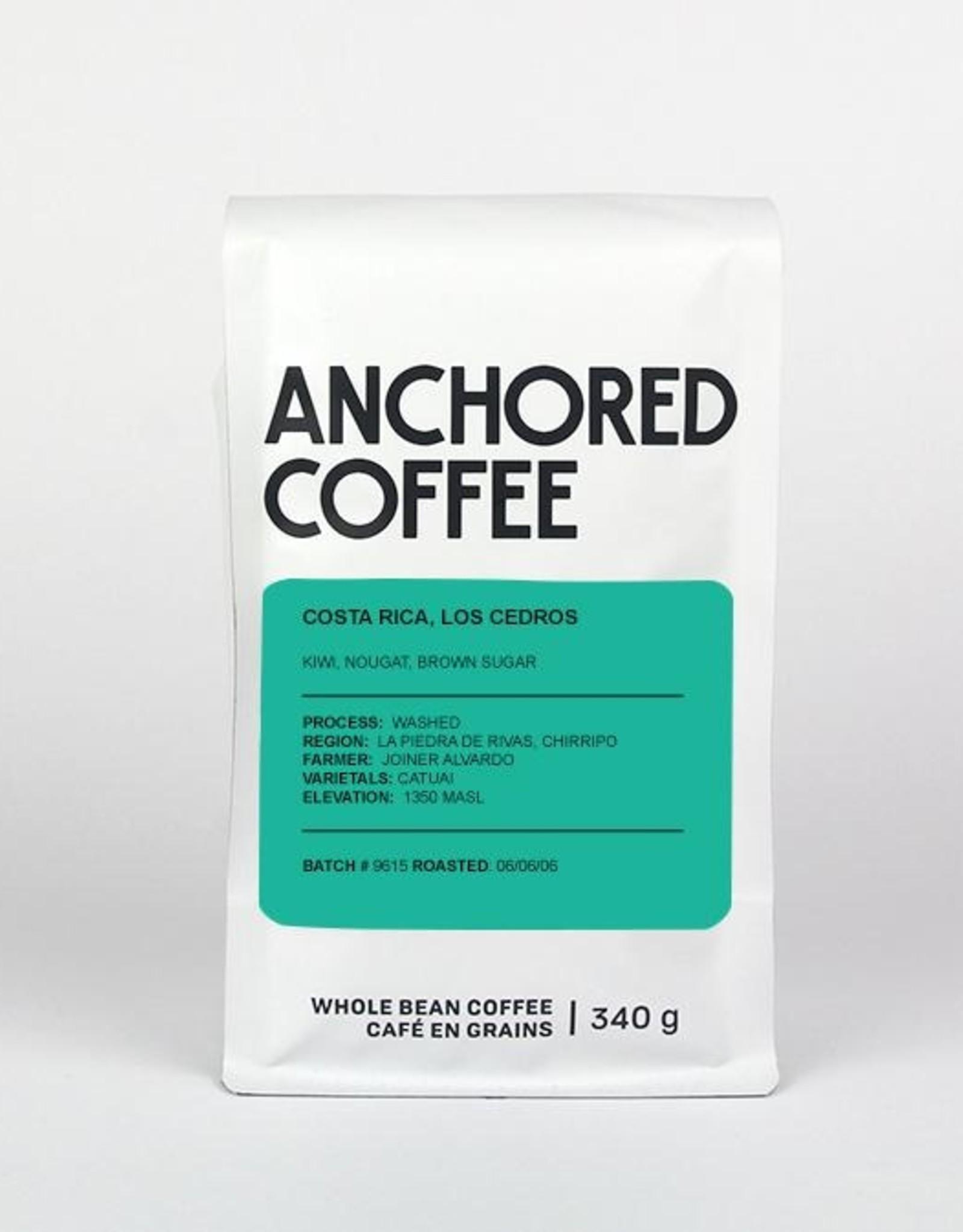Café Anchored - Costa Rica, Los Cedros - Filtre -  340g