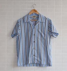 Naked & Famous Naked & Famous - Aloha Shirt Cambric Stripe - Blue